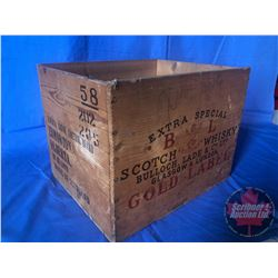 "B. & L. Scotch Whiskey Crate (14"" x 12"" x 11""H)"