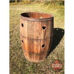 "Old Barrel Planter (29""H)"
