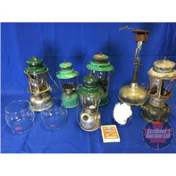 Assortment of Coleman Lanterns (6) & Extra Globes