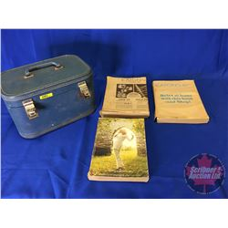 Eaton's Catalogs (3) (note 2 catalogs in original shipping wrapper) with Blue Hardshell Luggage Case