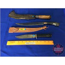Knife/Machete Trio (See Pics!)