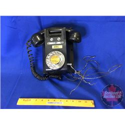 Vintage Black Rotary / Crank Wall Phone