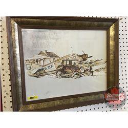 Framed Print : Airplane/Model T