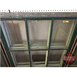 "Wood Sash Windows (Group of 3) (36"" x 35"") (Note: 2 Broken Panes & 1Cracked Pane)"