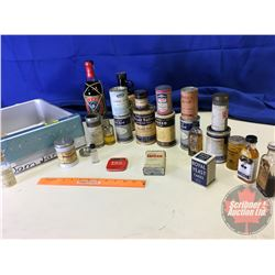 Variety of Vintage Apothecary Tins, Jars & Bottles