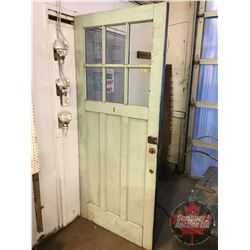 "Wooden Door (36"" x 83-1/4"") (3 Panes Broken)"