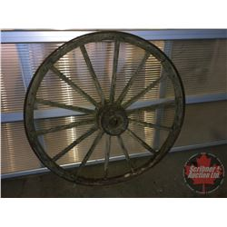 "Large Wooden Wagon Wheel (52""Dia)"