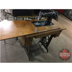 Singer Treadle/Electric Sewing Machine