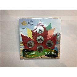 2019 Canadian Wildlife Coin Set                                 2019 5 Dollar Canadian Coin 2018 Arm