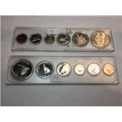1961/1967 Canada Proof Like Sets - In Snaplock Case's