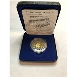 1996 2 Dollar Canadian Coin 2000 5 Cent Canadian Coin 2003 Special Edition Proof Silver Dollar