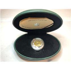 1999 nunavut proof 2 dollar coin, edmonton first and third proof set