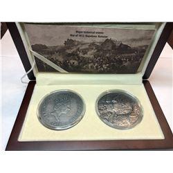 2012 Limited Edition - Major Historical Events, War of 1812 Napoleon Kutizov Fine Silver Coin Set