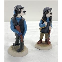 2 Ceramic hunting dogs