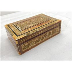 Wood rectangular jewelry box