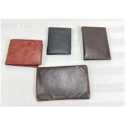 4 leather wallets
