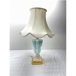 Teal & White Lamp