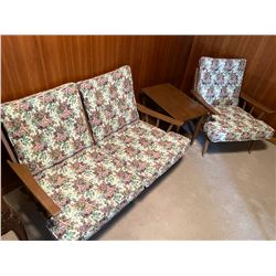 Loveseat, Chair and End Table