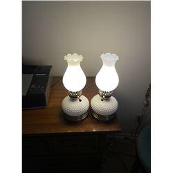 Pair of Milk Glass Lamps
