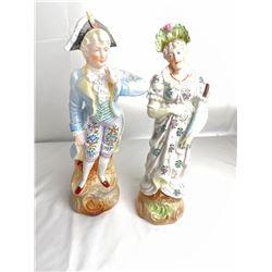 2 Ceramic Victorian Figurines