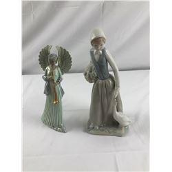 Ceramic lady & Clay angel