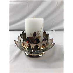 Leonard Silver Plated Candle Holder