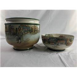 Royal Doulton Bowls and Flower Pot