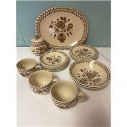 Staffordshire Old Ganite Plate Set