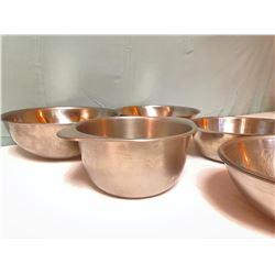 6 Aluminum Bowls