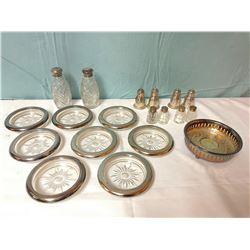 Glass & Sterling Silver Set