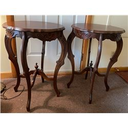 Pair of wood tables