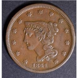 1841 LARGE CENT XF GREAT COLOR