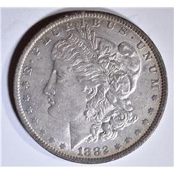 1882-O/S MORGAN DOLLAR AU/UNC, STRONG O/S