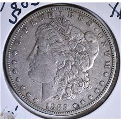1885-S MORGAN DOLLAR, XF
