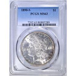 1890-S MORGAN DOLLAR PCGS MS-63