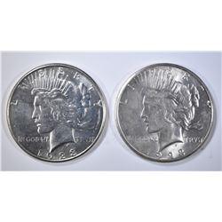2 1923-S PEACE DOLLARS  CH BU