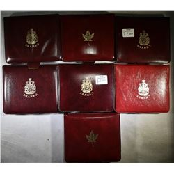 LOT OF 7 DOUBLE PENNY ROYAL CANADIAN MINT SETS