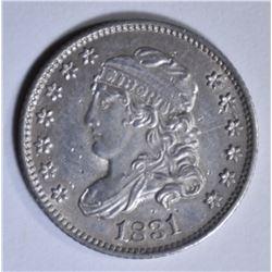 1831 BUST HALF DIME  AU