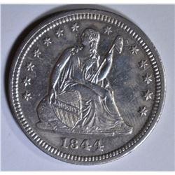 1844 SEATED LIBERTY QUARTER  CH BU