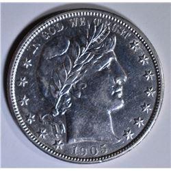 1905-S BARBER HALF DOLLAR  AU/BU