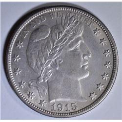 1915 BARBER HALF DOLLAR  BU
