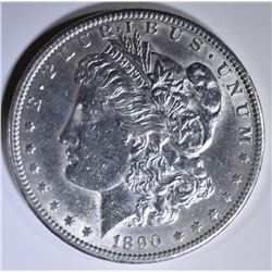 1890-S MORGAN DOLLAR  AU/BU