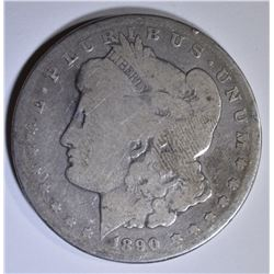 1890-CC MORGAN DOLLAR   GOOD