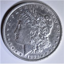 1892 MORGAN DOLLAR  AU