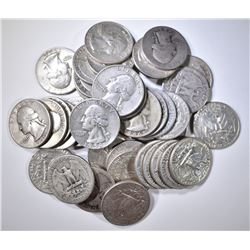$10 FACE VALUE 90% SILVER QUARTERS