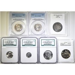 LOT OF 7 SLABBED COINS: SEE PHOTOS