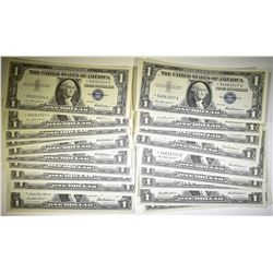 20-1957 $1.00 STAR NOTE SILVER CERTS CH UNC
