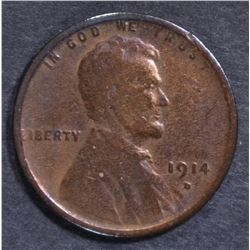 1914-D LINCOLN CENT G/VG