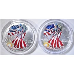 2-1999 COLORIZED AMERICAN SILVER EAGLES