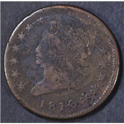 1810 LARGE CENT  FINE SURFACE CORROSION
